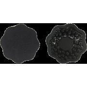 FLOWER FABRIC NIPPLE COVER - BLACK - Underwear - $5.00