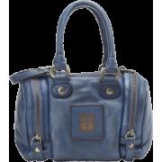 FRYE Brooke Small Soft Vintage Leather Satchel Blue - Bag - $248.00