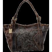 FRYE Deborah Star Shoulder Glazed Vintage Leather Tote Grey - Bag - $547.50