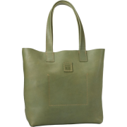 FRYE Stitch Smooth Full Grain Tote Green - Bag - $288.00
