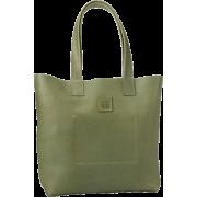 FRYE Stitch Smooth Full Grain Tote Green - Bag - $288.00
