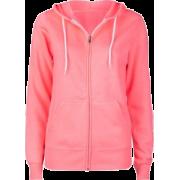 FULL TILT Basic Womens Zip Hoodie Pink - Long sleeves t-shirts - $24.99