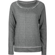 FULL TILT Essential Cut Seam Womens Sweatshirt Charcoal - Long sleeves t-shirts - $11.97