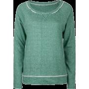 FULL TILT Essential Cut Seam Womens Sweatshirt Green - Long sleeves t-shirts - $11.97