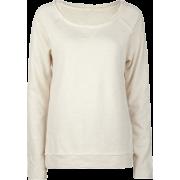 FULL TILT Essential Cut Seam Womens Sweatshirt Oatmeal - Long sleeves t-shirts - $11.97