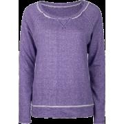 FULL TILT Essential Cut Seam Womens Sweatshirt Purple - Long sleeves t-shirts - $11.97