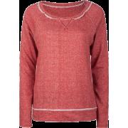 FULL TILT Essential Cut Seam Womens Sweatshirt Red - Long sleeves t-shirts - $11.97
