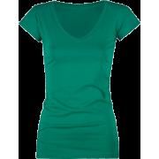 FULL TILT Essential V-Neck Womens Tee Green - T-shirts - $5.99