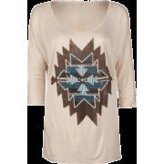 FULL TILT Ethnic Dolman Womens Tee Taupe - T-shirts - $11.99