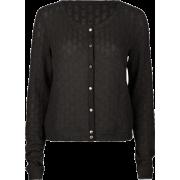 FULL TILT Open Weave Womens Sweater Black - Cardigan - $15.97