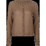 FULL TILT Open Weave Womens Sweater Brown - Cardigan - $15.97