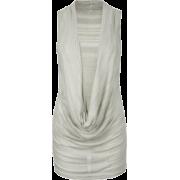 FULL TILT Plunge Cowl Womens Top Grey - Top - $9.97