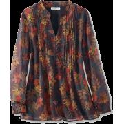 Fall Foliage Blouse - Long sleeves shirts - $79.95
