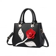 Fantastic Zone Roses Women Handbags Fashion Handbags for Women PU Leather Shoulder Bags Tote Bags Purse - Bag - $24.99