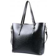 Fantastic Zone Women Leather Handbags Shoulder Bags Top-handle Tote Ladies Bags - Bag - $22.99