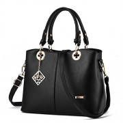 Fantastic Zone Women Leather Handbags Top Handle Satchel Tote Bags Shoulder Bags - Bag - $23.98