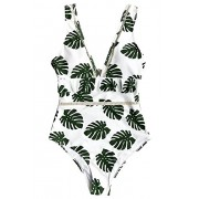 Fantastic Zone Womens Fashion The Forest Floral One-Piece Swimsuit Beach Swimwear Bathing Suits - Swimsuit - $18.99