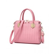 Fashion Sweety Women's Top-Handle PU Leather Shoulder Handbag Tote Purse - Bag - $24.99