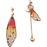 Fashion Earrings Creative Butterfly Simulation Asymmetric Resin Earrings Nhan263 - Uhani -