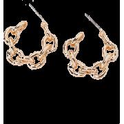 Fashion New Exaggerated Geometric Ring Interlocking Alloy Earrings Wholesale Nha - 耳环 -