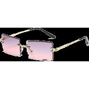 Fashion New Metal Frame Sunglasses For Women Large Frame Sunglasses - 墨镜 -