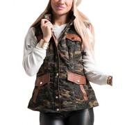Fashionomics 22A-1Li1398-CM Camo Puffer Hooded Vest - Jacket - coats - $59.99