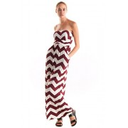 Fashionomics Womens Summer Tube Chevron Sleeveless Maxi Dress With Side Pockets - Dresses - $15.00