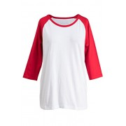 Fashionomics Womens Women's Casual 3/4 Sleeve Raglan Baseball T-Shirts Top - T-shirts - $9.99