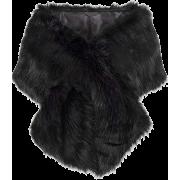 Faux Fur Scarf for Women Wrap Coat - Vests - $38.99