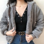 Faux fur feels skin-friendly comfort fur - 半袖衫/女式衬衫 - $59.99  ~ ¥401.95