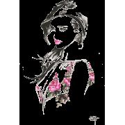Female Head & Shoulders Illustration - Illustrations -