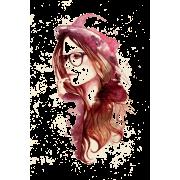 Female Head wearing Hat Illustration - Illustrations -