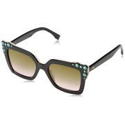 Fendi FF0260/S 3H2 Black / Pink FF0260/S Square Sunglasses Lens Category 2 Lens - Eyewear - $177.00  ~ 152.02€
