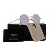 Fendi FF0291/S Sunglasses Palladium Grey w/Grey Silver Mirror Lens 48mm 010DC FF0291S FF 0291S FF 0291/S - Eyewear - $229.99  ~ 197.53€