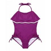 Firpearl Girls One Piece Swimsuit Falbaba Flounce Skirted Kids Swimwear Cute Mermaid Print - Swimsuit - $17.99