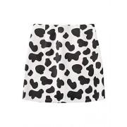Floerns Women's Animal Print Elastic Waist A Line Mini Skirt - Skirts - $17.99