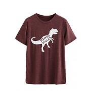 Floerns Women's Cute Graphic Print Short Sleeve Summer T Shirt Tee - T-shirts - $22.99