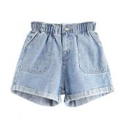 Floerns Womens' Elastic Waist Summer Denim Shorts Jeans - Shorts - $17.99