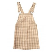 Floerns Women's Gingham Suspender Overall Pinafore Short Dress - Dresses - $15.99