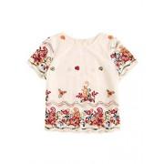 Floerns Women's Summer Floral Print Short Sleeve T Shirt Top - Shirts - $16.99