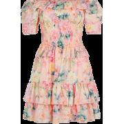 Floral Bardot Dress - Dresses -