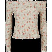 Floral Bardot Top - Long sleeves shirts -