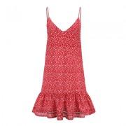 Floral holiday ruffled suspender dress - Dresses - $19.99