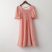 Floral retro literary dress female 2020 summer new Korean version of the slim sl - Haljine - $23.99  ~ 20.60€
