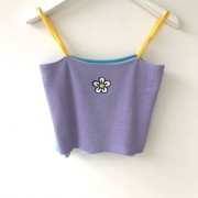 Flower embroidery summer cool small fresh knit suspenders - 半袖衫/女式衬衫 - $19.99  ~ ¥133.94