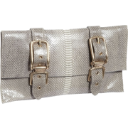 Foley + Corinna Buckle Clutch Embossed Shell Snake - Clutch bags - $211.99
