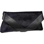 Foley + Corinna Georgina Portfolio Clutch Midnight Pony/Black - Clutch bags - $319.99