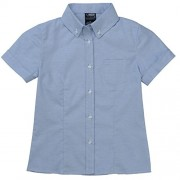 French Toast Girls' Short Sleeve Button Down Oxford with Darts - Shirts - $7.07