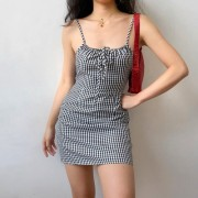 French chest bow dress with black and white straps - Kleider - $27.99  ~ 24.04€