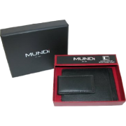 Front Pocket Wallet with Magnetic Money Clip Black - Wallets - $12.95